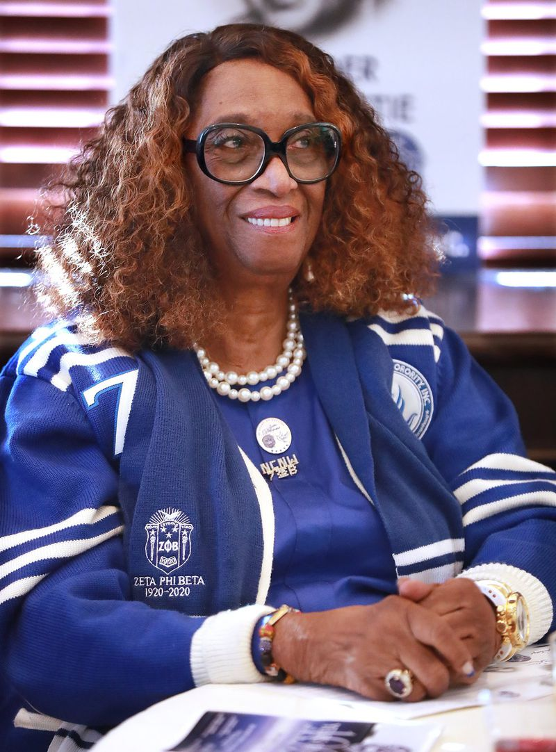Zeta Phi Beta Sorority member Dr. Barbara King attends the 100 Years of Finer A Centennial Celebration on Thursday, Jan. 16, 2020, in Dunwoody. CURTIS COMPTON CCOMPTON@AJC.COM