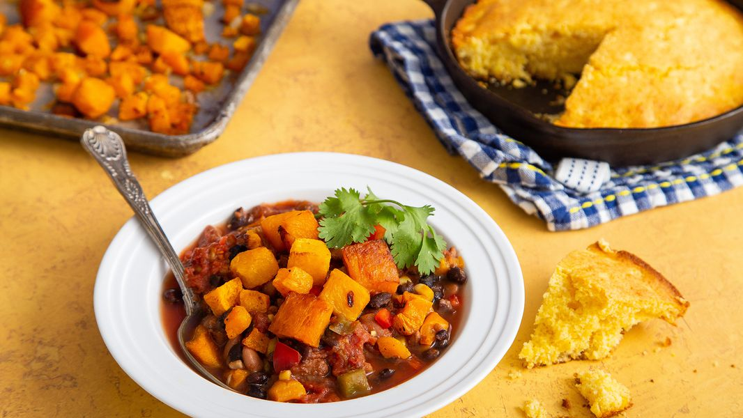 Recipe Festive Butternut And Black Bean Chili