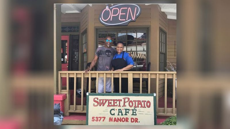 Karen Patton, owner and chef at Sweet Potato Cafe in downtown Stone Mountain, said a COVID-19 relief grant would greatly help her business.