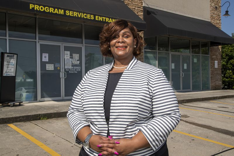 Falecia Stewart, vice president of housing at MUST Ministries, helps oversee the rental assistance program in Cherokee County. She says that one of the biggest obstacles for renters seeking help is producing documents proving financial hardship. (Alyssa Pointer/Atlanta Journal Constitution)