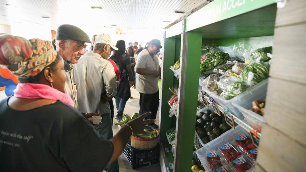 This photo, taken before the pandemic hit, shows some of the produce offered at the Fresh MARTA Market. Photo: David Wickert