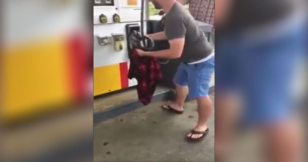 WATCH: Georgia man pulls 3-foot snake out of gas pump