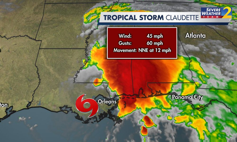 SATURDAY'S WEATHER-TRAFFIC: Rain moves in as Tropical Storm Claudette approaches