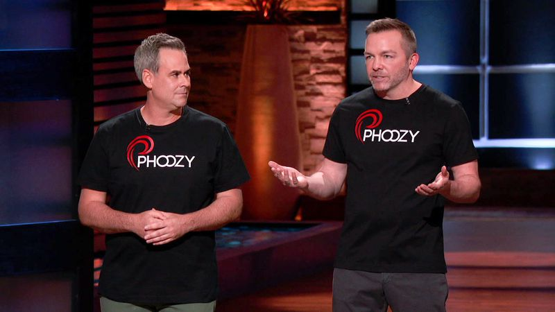"""Kevin Conway and Atlanta's Josh Inglis try to get """"Shark Tank"""" investors to place bets on their Phoozy gadget protector on tonight's episode of the popular show. ABC"""