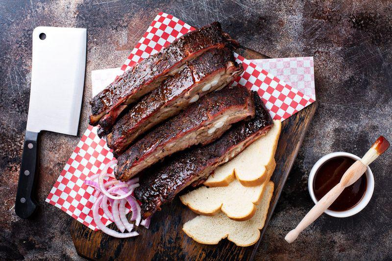 Food from Hattie Marie's Texas Style BBQ & Cajun Kitchen.