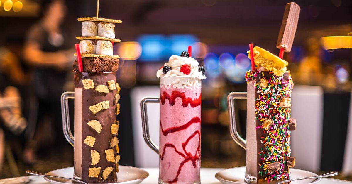 Colorful Milk Shake Ice Cream Bar 500 Piece Jigsaw Puzzle
