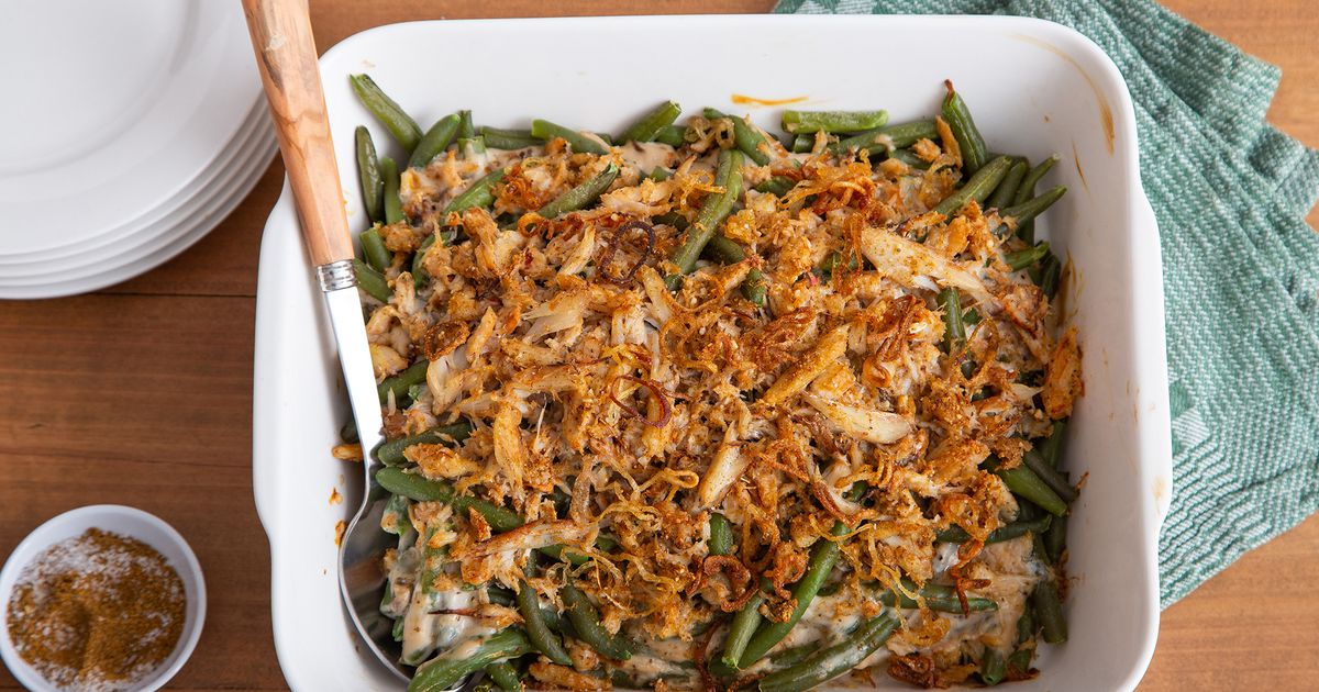 RECIPE: Crab meat, Old Bay lend tasty twist to classic green bean casserole