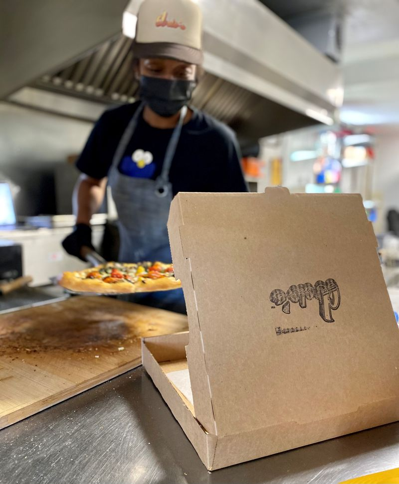 Alyson Williams owns Dolos Pizza with partner Yusef Walker, who also is affiliated with Ms. Icey's Kitchen & Bar in Decatur. Wendell Brock for The Atlanta Journal-Constitution