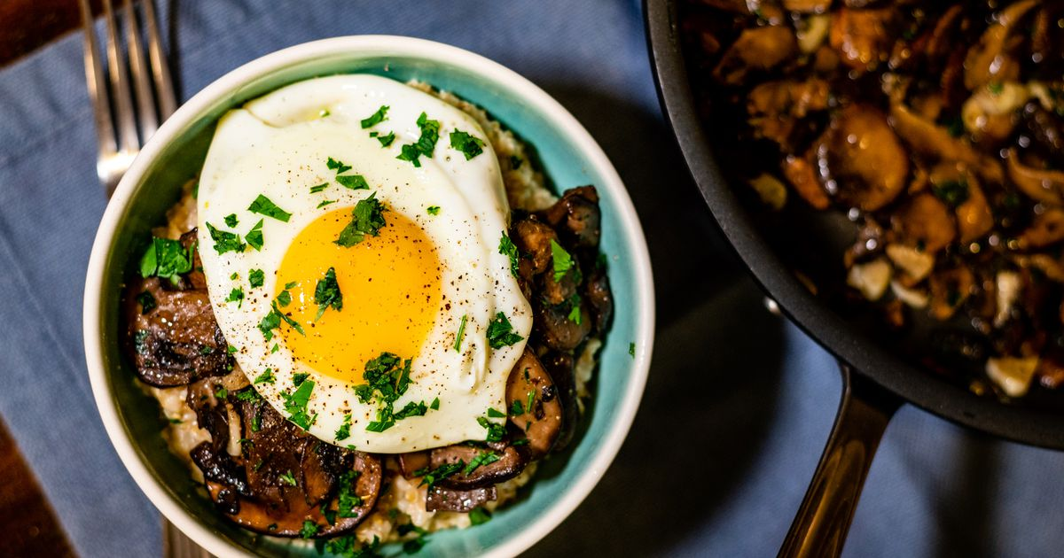 RECIPE: Oatmeal is weeknight dinner-ready when topped with savory mushrooms