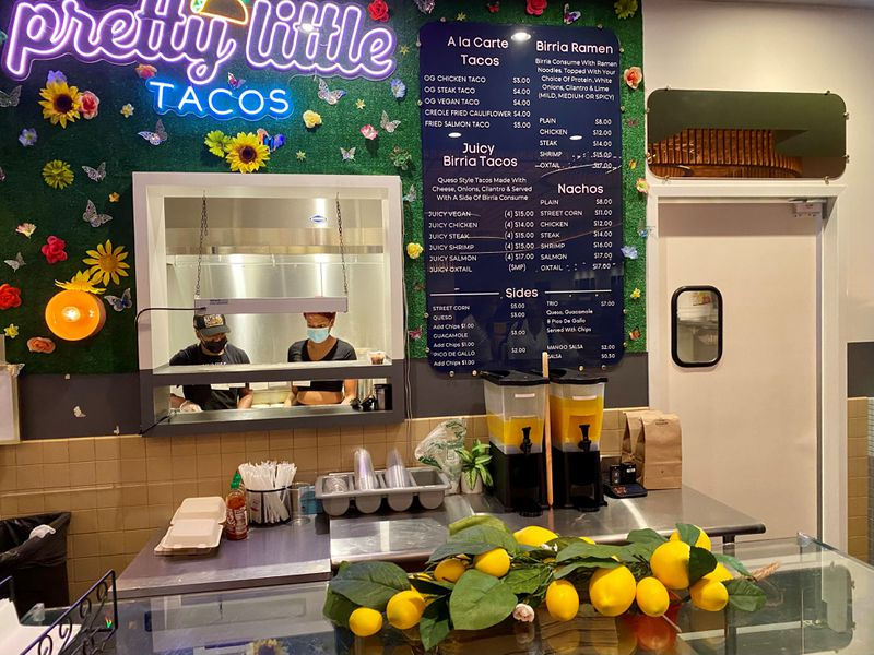 Pretty Little Tacos started as a food truck and recently opened at Politan Row food hall in Colony Square. (Wendell Brock for The Atlanta Journal-Constitution)