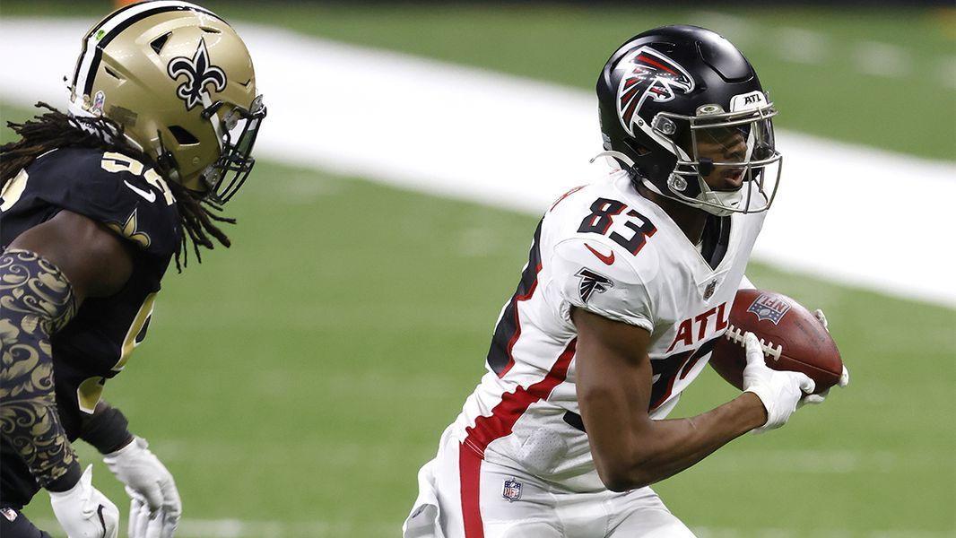 Falcons' playtime percentage breakdown vs. Saints
