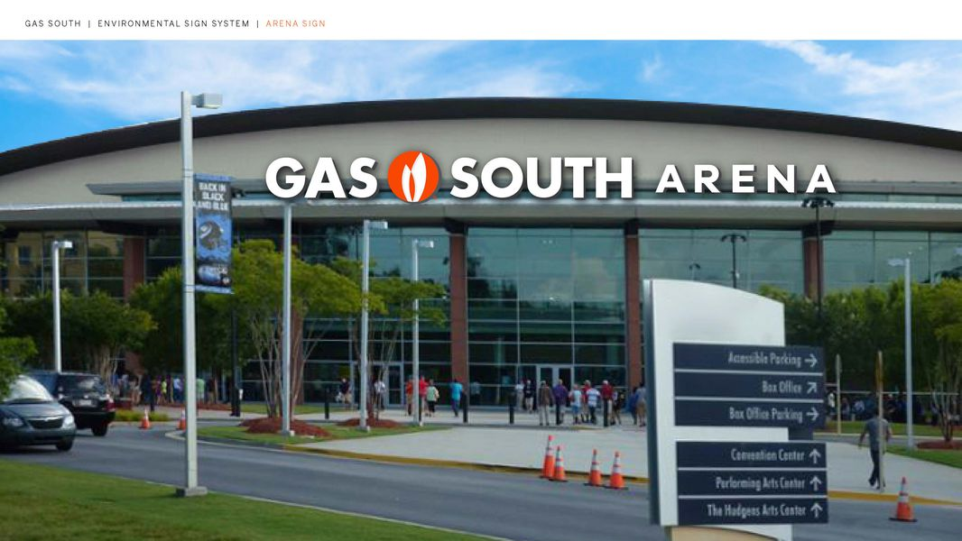 Artist renderings show that the former Infinite Energy Center in Duluth will be known as Gas South District, and the former Infinite Energy Arena as Gas South Arena, following the acquisition of Infinite Energy by Gas South.