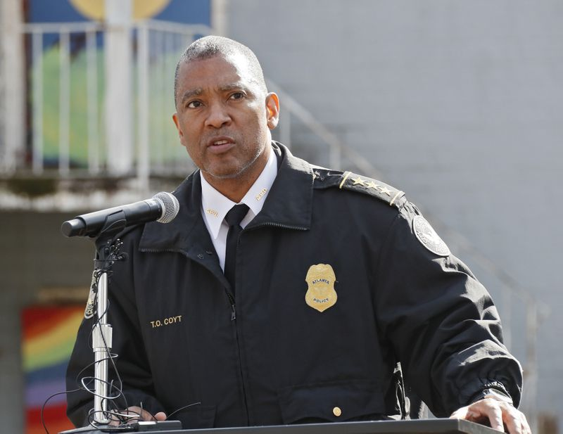 Todd Coyt, assistant chief of the Atlanta Police Department, speaks at the Atlanta Police Recruit Housing Ground Breaking Ceremony on January 9, 2020, in Atlanta's English Avenue neighborhood. (BOB ANDRES / bandres@ajc.com)