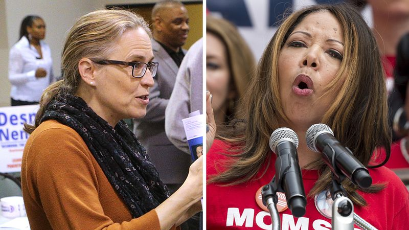 Carolyn Bourdeaux and Lucy McBath won the second round of the Democratic election for the US Congress.