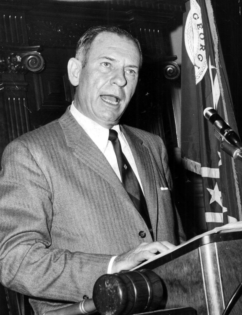 Governor Marvin Griffin, a Democrat, was a staunch segregationist. Griffin signed the legislation okaying the 1956 change to the Georgia state flag.