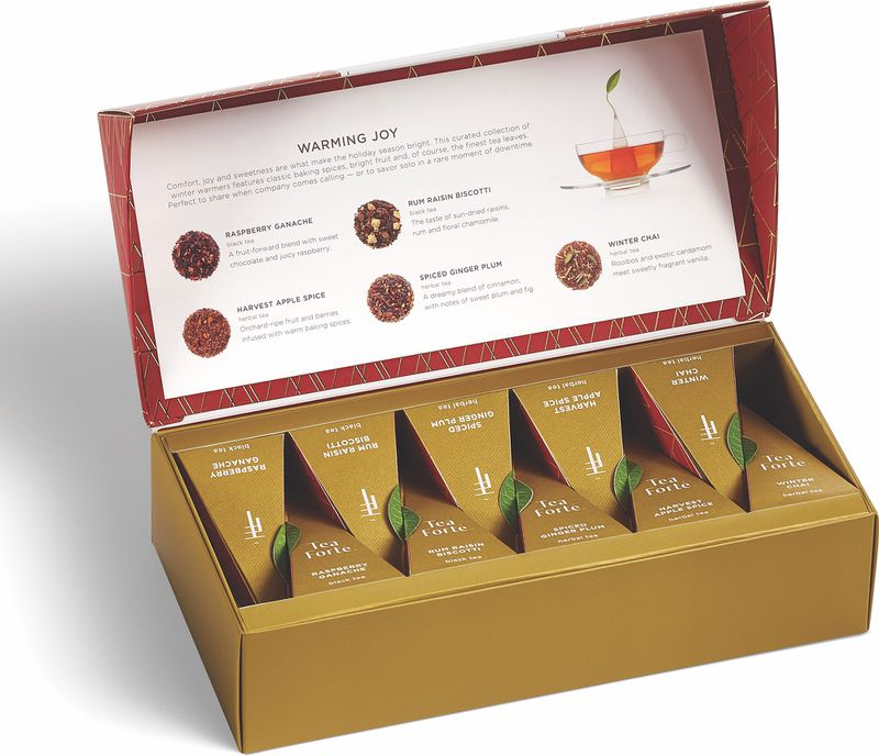 'Tis the season for a collection of soothing teas with spicy and fruity flavors from Tea Forté. Courtesy of Tea Forté