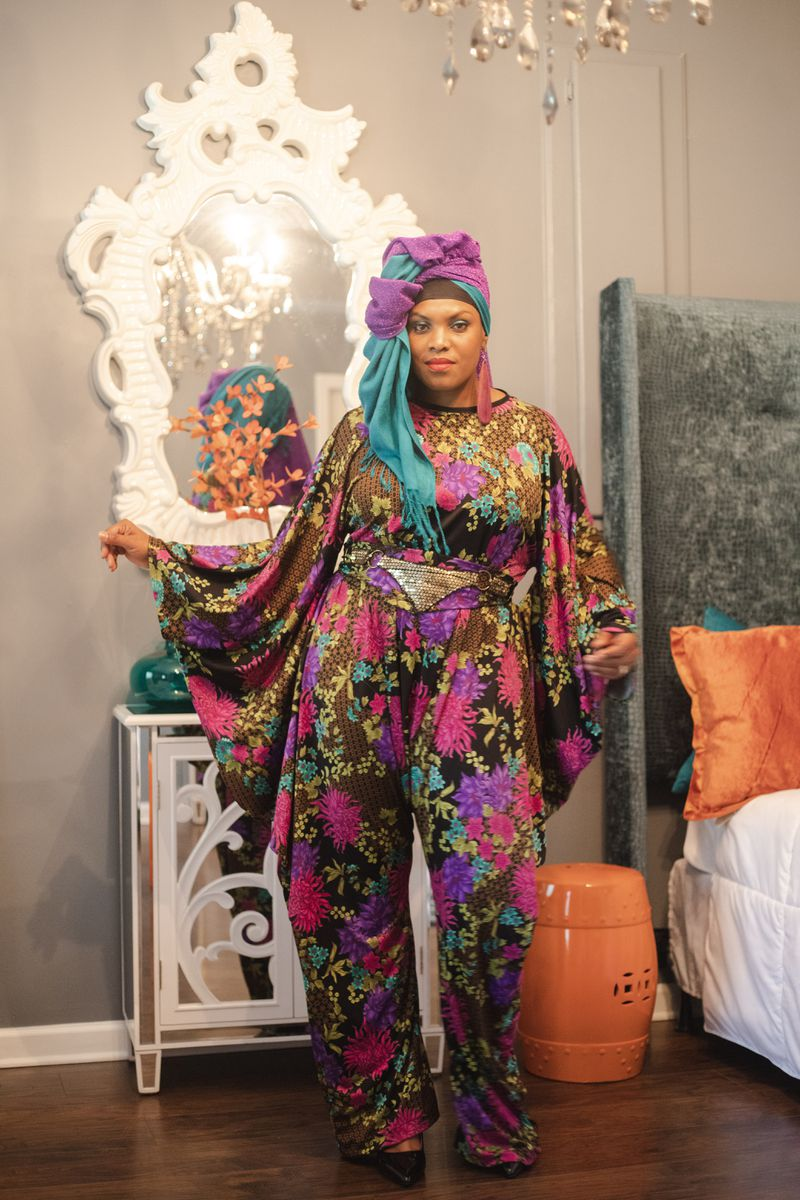 Queens' Creations by Nefertari Hazziez was one of five modest fashion collections shown during the 35th annual Sealed Nectar Fashion Show.