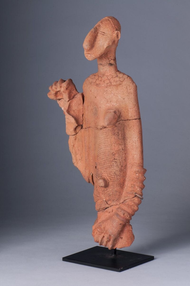 This terra cotta Bankoni sculpture from the Mali region of Africa is the oldest example of African art in the High Museum of Art's collection. The female figure was created in the 14th century. Courtesy of the High Museum of Art