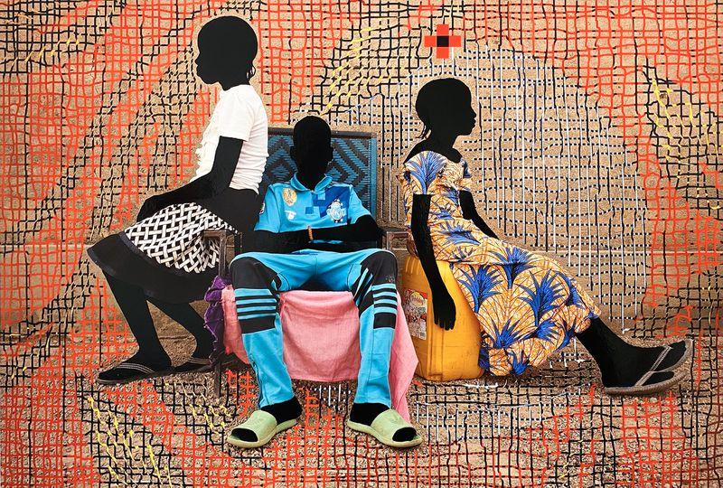 """Prince and Princess, T Feuilles d'or, Ouaga-Paris"" (2019) by Saïdou Dicko. Courtesy of Jackson Fine Art, Atlanta / Copyright Saïdou Dicko."