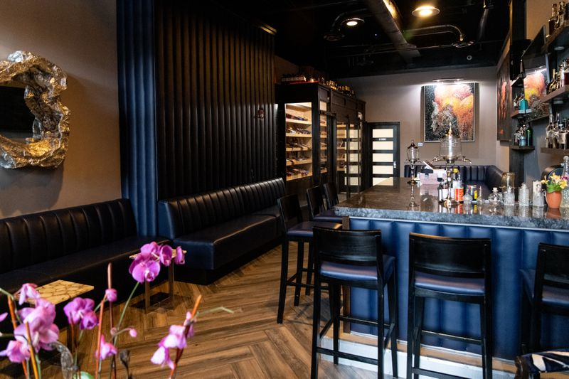 The Continent has a cigar bar as well as a restaurant. (Mia Yakel for The Atlanta Journal-Constitution)