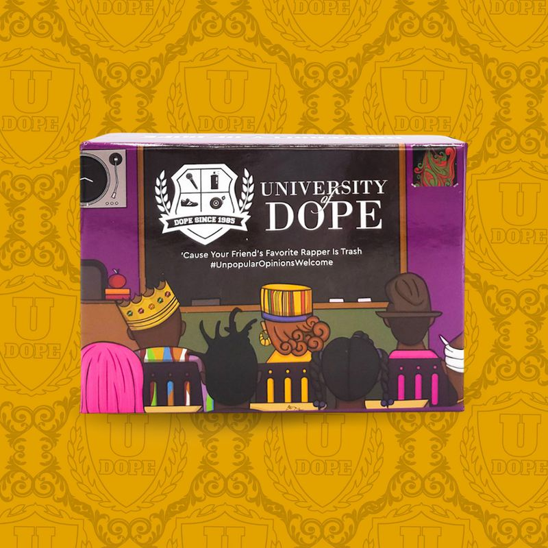 Lovers of hip-hop culture will appreciate a good card game to test their knowledge and a box set from University of Dope  Courtesy of University of Dope