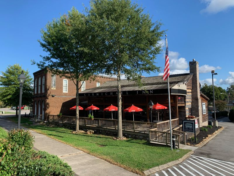 The Carmichael Inn is a new restaurant housed in an 1820s log structure that once served as a stagecoach stop. Courtesy of Visit Loudon County, Tennessee