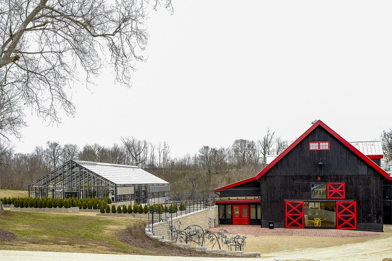 A thoroughbred nursery and farm is the setting for the Hermitage Farm and Barn8 Restaurant and Bourbon Bar in Goshen, Kentucky.     Courtesy of Oldham KY Tourism & Conventions