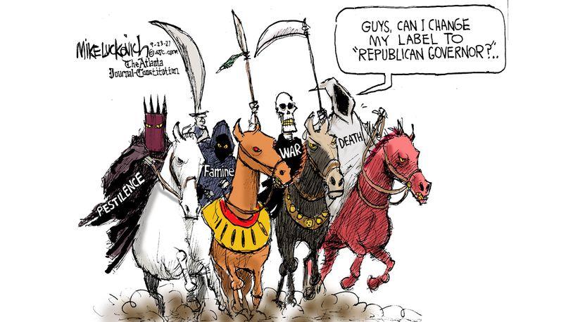 The Four Horsemen of the Apocalypse, Pestilence, Famine, War, and Death,