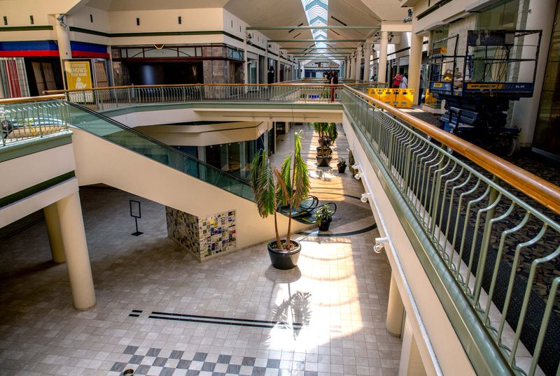 Gwinnett Place Mall stands mostly vacant in Duluth Wednesday, August 18, 2021.  STEVE SCHAEFER FOR THE ATLANTA JOURNAL-CONSTITUTION