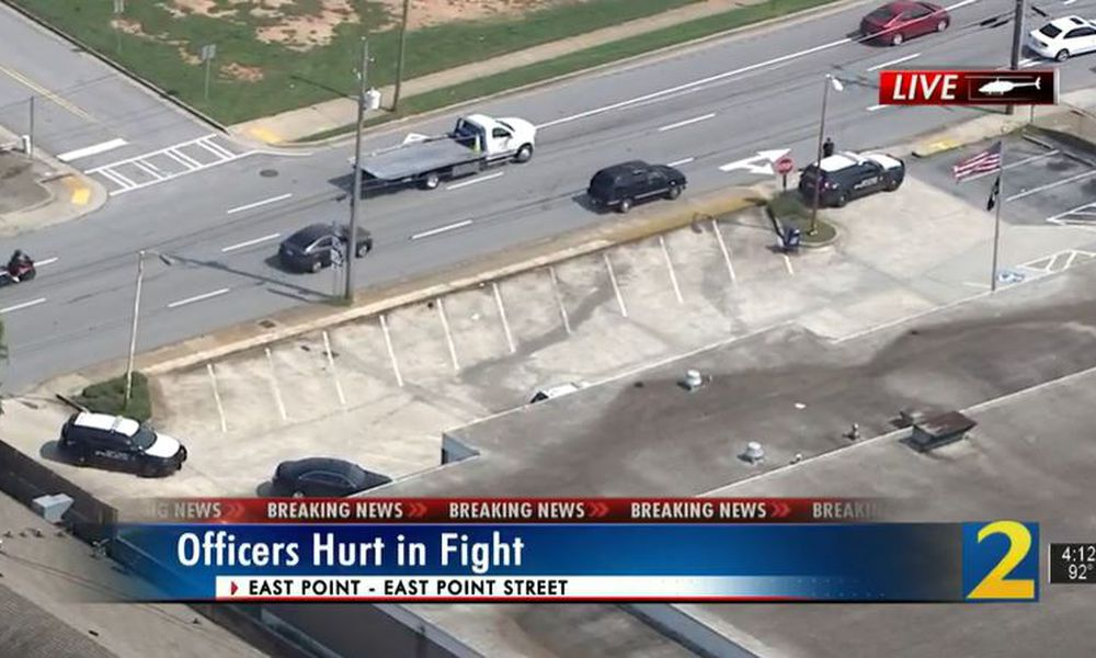 2 East Point officers injured in post office scuffle