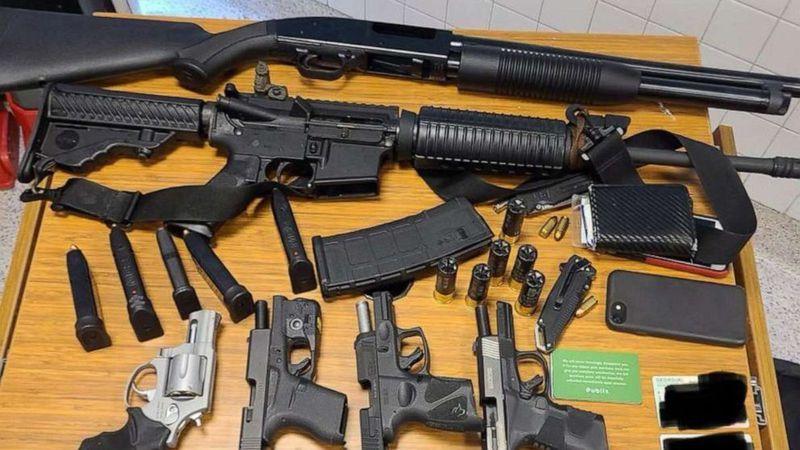 Police said the man took a rifle, a shotgun, four handguns and several magazines inside the Atlantic Station Publix.