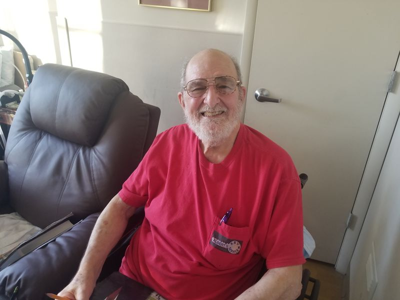 Albert Maslaa, a resident of the William Bremen Jewish Home, is looking forward to seeing his family face to face soon.