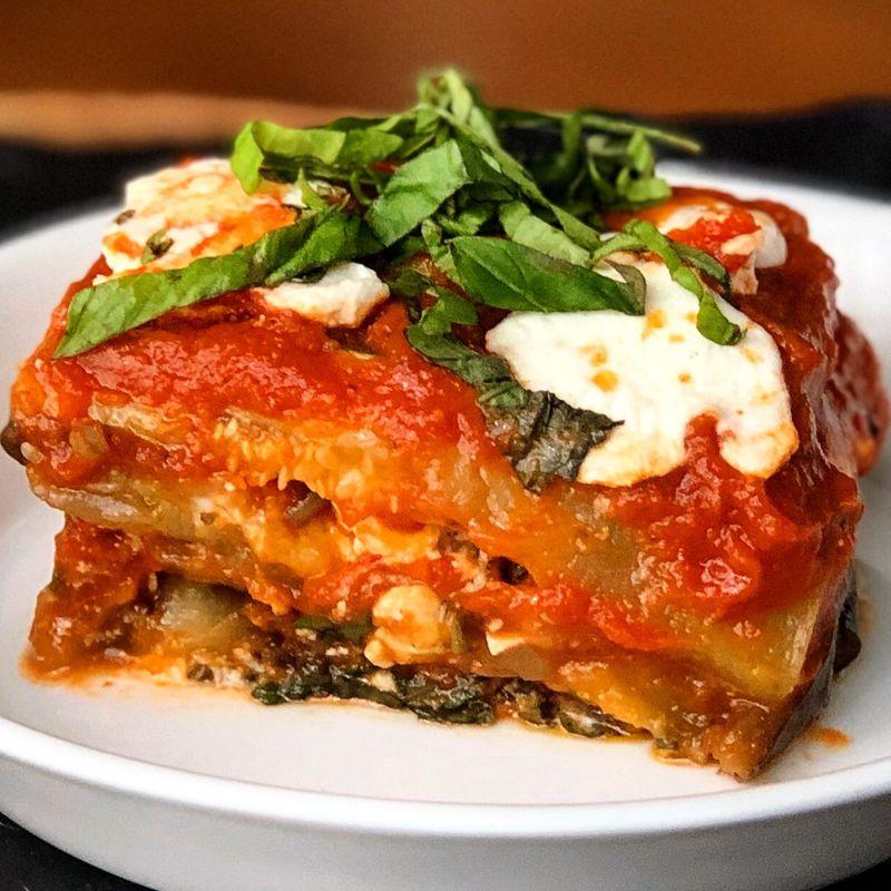 Zucchini and Eggplant Lasagna. (Courtesy of Megan McCarthy)
