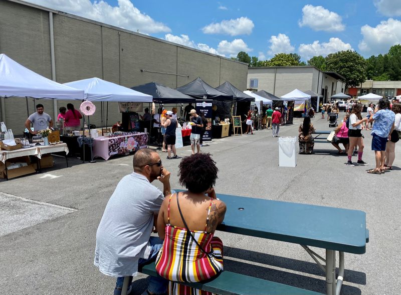 Bien Vegano ATL's June installment took place at Second Self Beer Co. in the Westside.  The next vegan market will be on July 25, also at Second Self.  Wendell Brock for The Atlanta Journal-Constitution