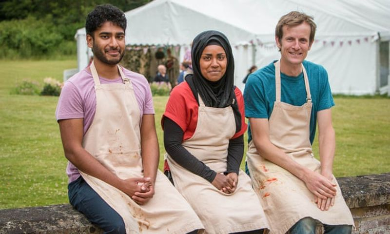 "The 2015 ""Baking Show"" finalists were (from left) Tamal Ray, Nadiya Hussain and Ian Cumming. Nadiya was declared the winner. (Courtesy of BBC)"