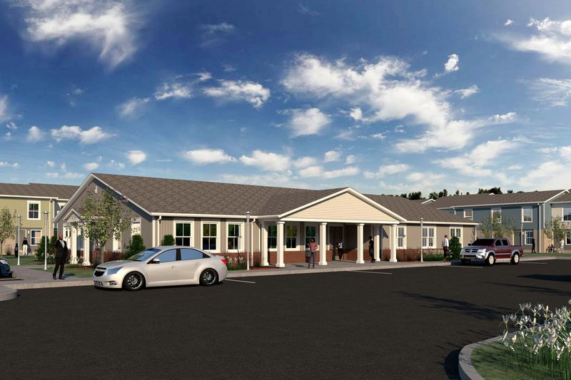 A rendering of the proposed Forest Cove apartment renovation project as provided by The Millennia Companies.